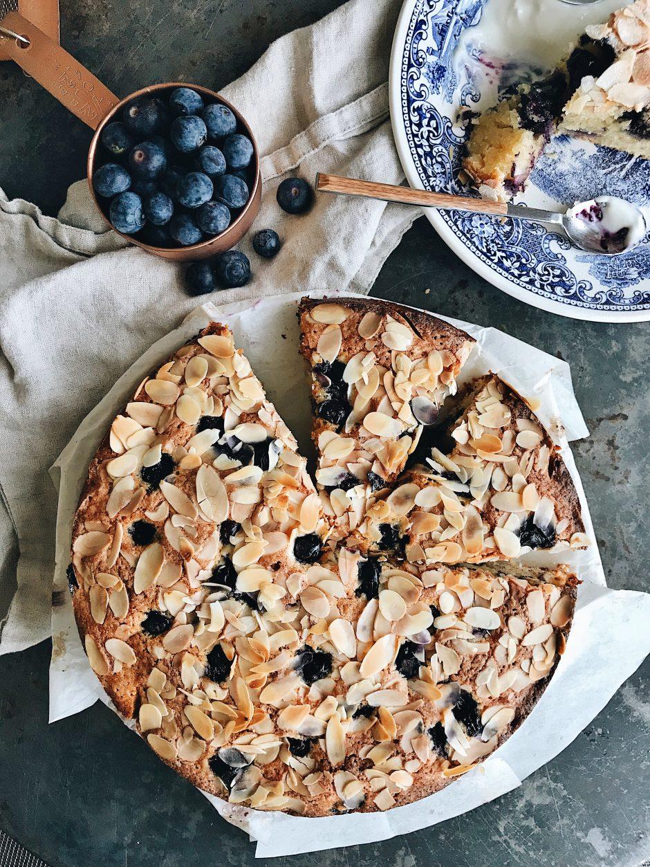 Blueberry Almond Flour Cake