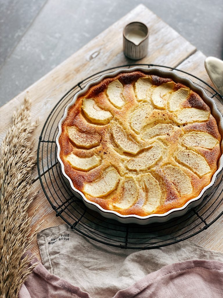 Ricotta and apple bake